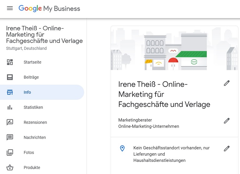 Programm Google My Business Info Reiter
