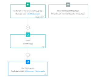 Automation Freebie versenden, Workflow Willkommensnachricht mit 3 Schritten