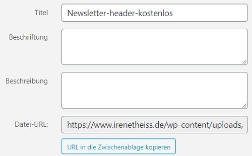 URL erhalten aus WordPress Mediathek