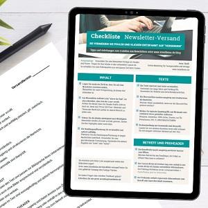 kostenlose Checkliste Newsletter entspannt versenden