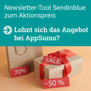 Newsletter-Programm Sendinblue als Angebot bei AppSumo, lohnt sich das?