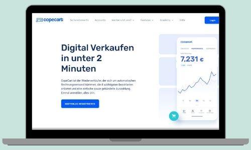 CopeCart ist ein Zahlungsanbieter, der sehr den Einstieg ins Onlinemarketing sehr leicht gestaltet.