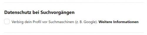 Pinterest Profil bei Google indexieren
